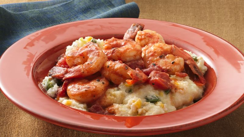 Smoky Shrimp with Creamy Grits