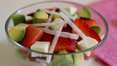 Jicama, Strawberry and Avocado Salad