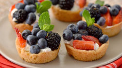 Tacitas de Galletas con Yogur y Frutos del Bosque