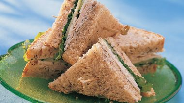 Turkey Cucumber Dill Sandwiches