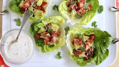 Bacon-Ranch Lettuce Cups
