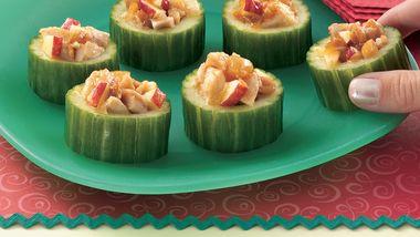 Chicken-Chutney-Cucumber Cups