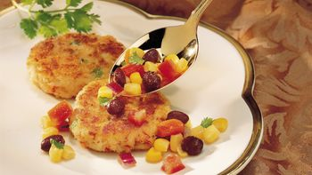 Crab Cakes with Cilantro Salsa