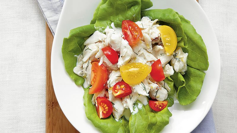 Crab Salad with Buttermilk Dressing
