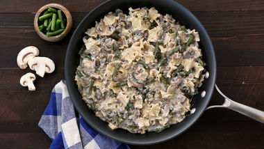 Ground Beef and Green Bean Stroganoff