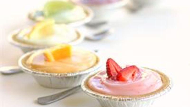 Spring Rainbow Yogurt Tartlets