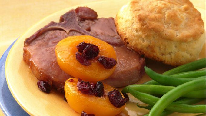 Honey-Mustard Smoked Pork Chop Dinner