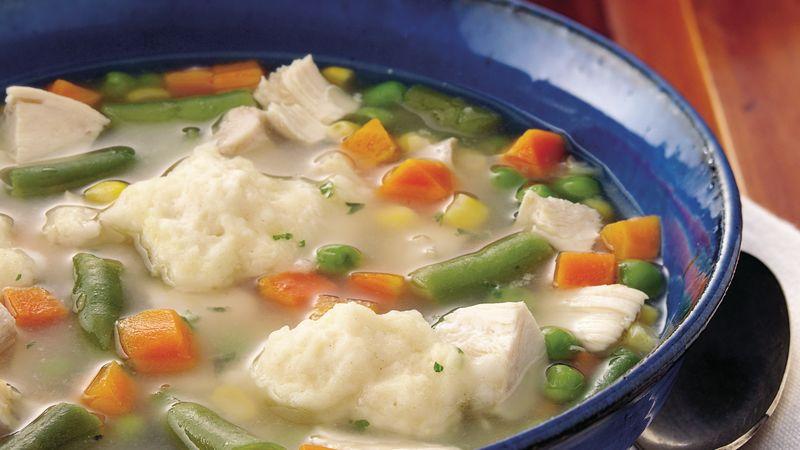 Chicken-Vegetable Soup with Dumplings