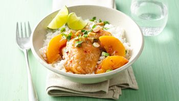 Make-Ahead Slow-Cooker Asian Peach Chicken Thighs