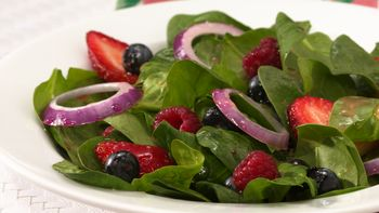 Tri-Berry Spinach Salad