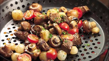 Grilled Veggies and Steak