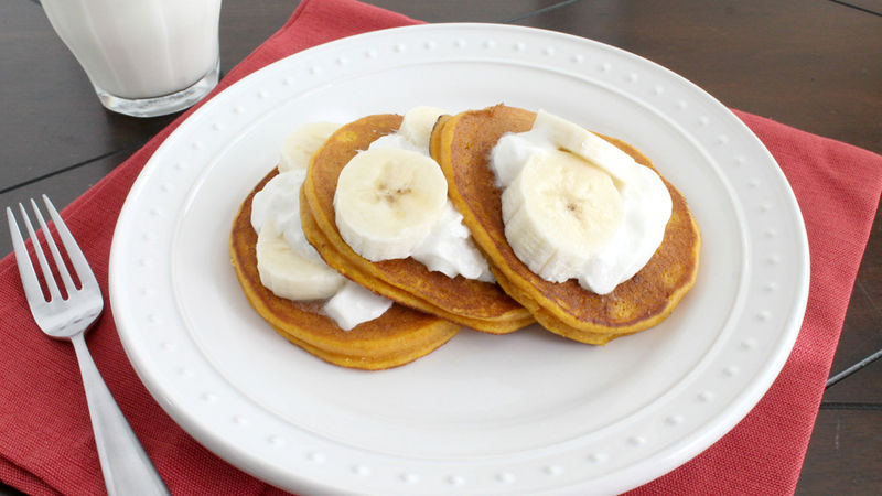 Pumpkin Cookie Dough Pancakes