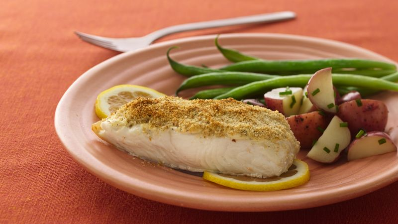 Parmesan crusted fish recipe from betty crocker for Parmesan crusted fish