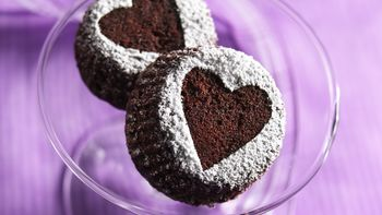 Heart Brownie Cupcakes