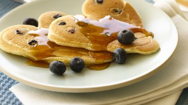 Blueberry Pancake Hearts