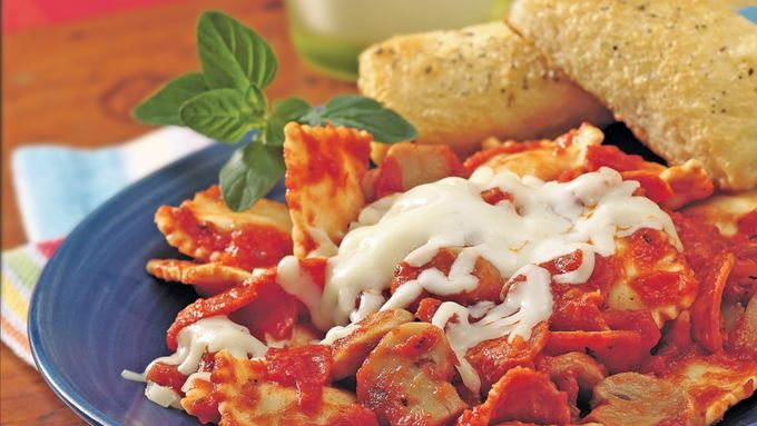 Pepperoni-Ravioli Supper