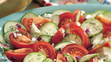 Dilled Cucumber and Tomato Salad