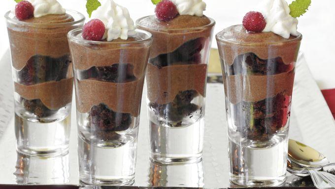Chocolate Toffee Brownie Shooters