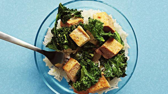 Kale and Crispy Tofu Stir Fry