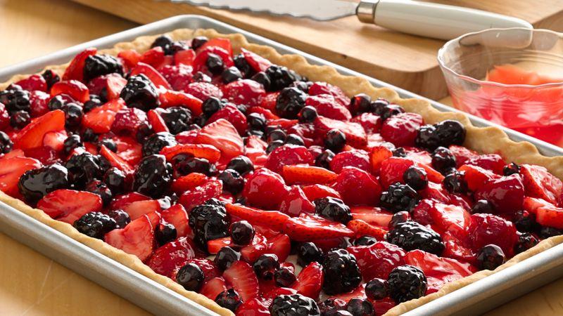Fresh Berry Slab Pie