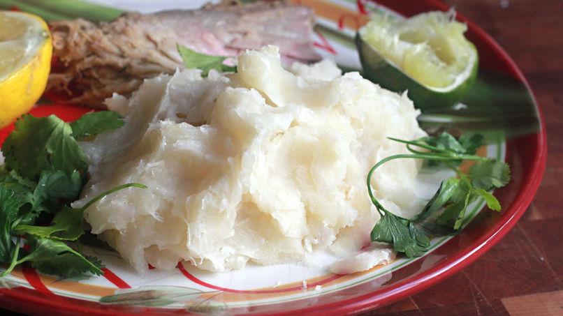 Puré de yuca con ajo