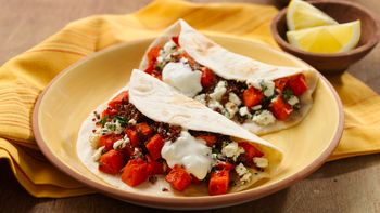 Middle Eastern Veggie Tacos