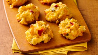 Honey Roasted Corn and Crab Puffs
