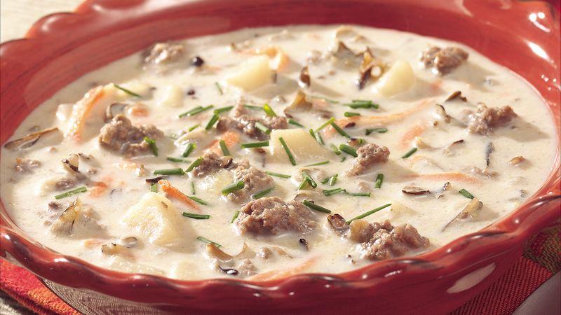 Classic Creamy Wild Rice Soup