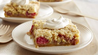 Five-Ingredient Rhubarb Squares