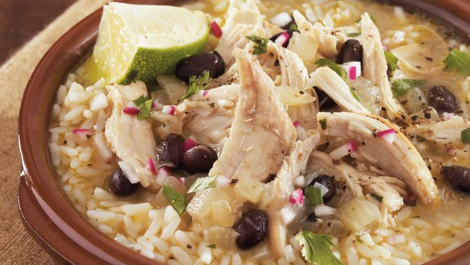 Slow-Cooker Caribbean-Style Chicken Soup with Lime and Cilantro
