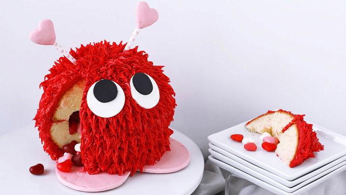 Warm Fuzzy Piñata Cake