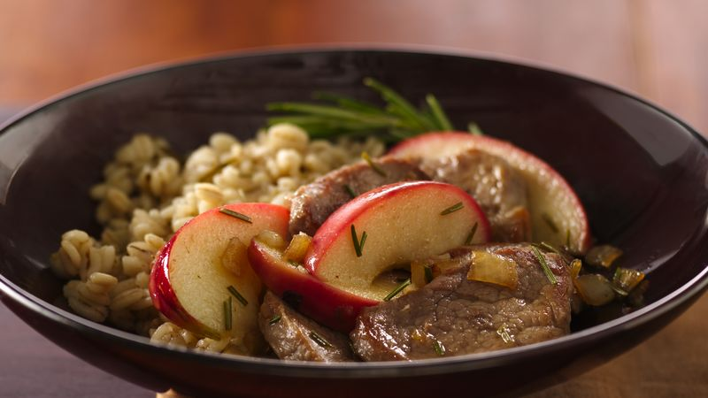 Apple-Rosemary Pork and Barley