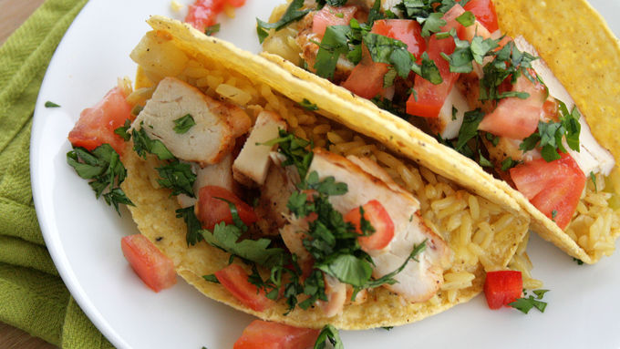Fajita Grilled Chicken Stuffed Tacos