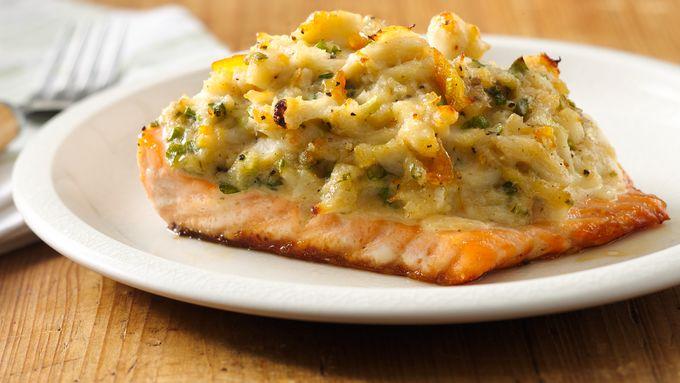 Marmalade Crab Crusted Salmon