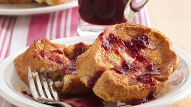 French Toast with Raspberry-Cranberry Syrup