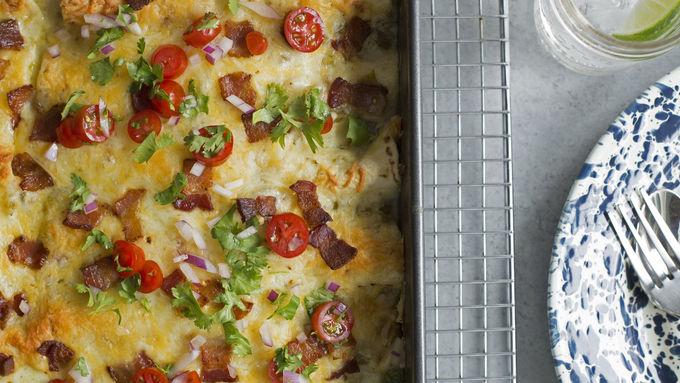 Chicken-Bacon-Ranch Enchiladas