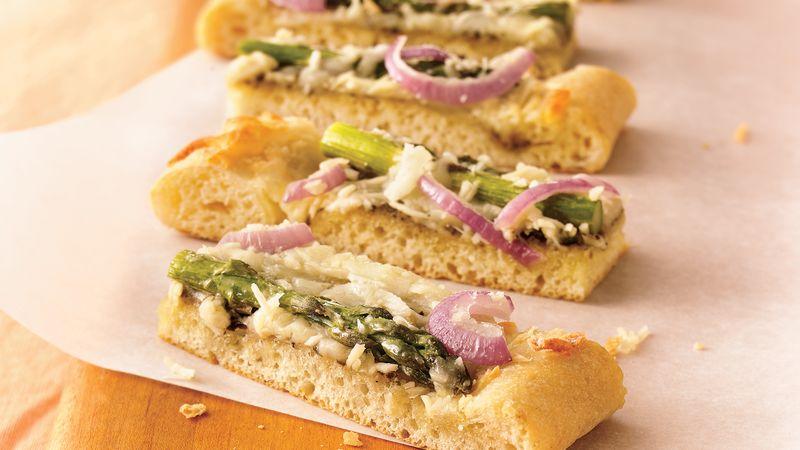 Pesto Asparagus Flatbread