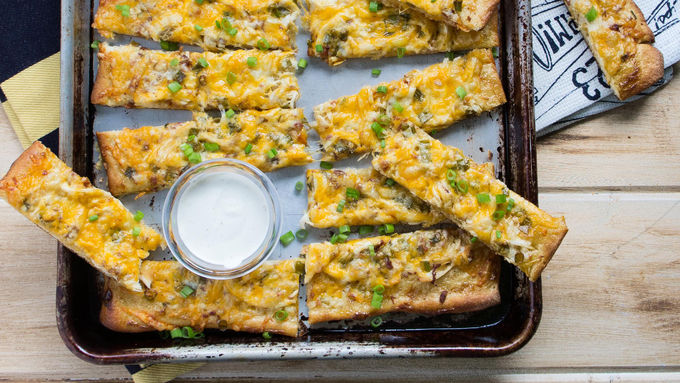 Chicken-Bacon-Ranch Pizza Sticks
