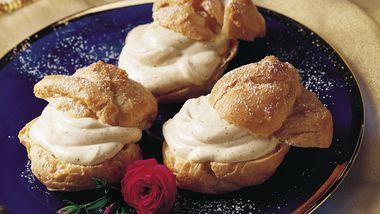 Eggnog Cream Puffs