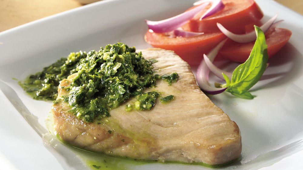 Tuna with Three-Herb Pesto
