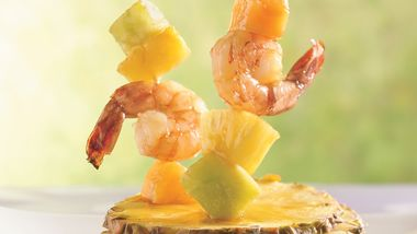 Shrimp, Melon and Pineapple Kabobs
