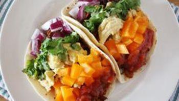 Chorizo-Egg Rainbow Tacos