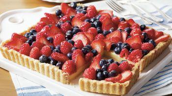 Fresh Fruit-Custard Tart