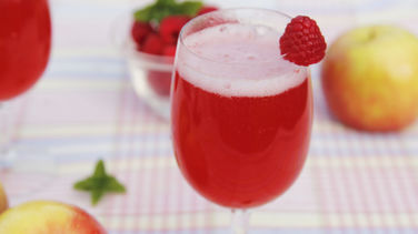 Fizzy Raspberry and Apple Punch for Kids
