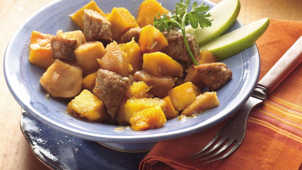 Slow-Cooker Pork Sausage and Squash