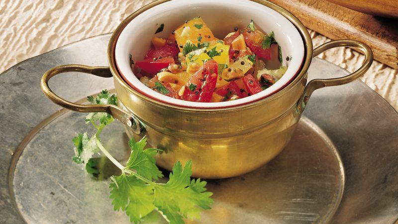 Chopped Tomato Salad (Tamatar Nu Salade)