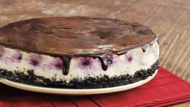 Cherry Cheesecake with Ganache