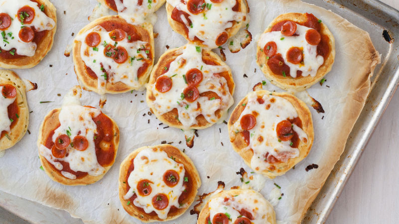Mini Pizza Pancakes recipe from Betty Crocker