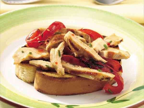 Grilled Chicken Panzanellas