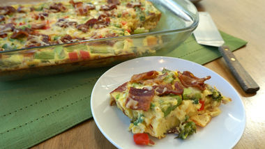 Bacon, Asparagus and Smoked Gouda Egg Bake